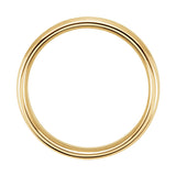 14k Yellow/White Gold 4mm Comfort-Fit Beveled Edge Band