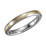 18k Yellow Gold & Platinum 3.5mm Wedding Band