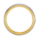 18k Yellow & Platinum Gold 6mm Comfort-Fit Wedding Band