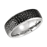 Cobalt 8mm Black PVD Design Wedding Band
