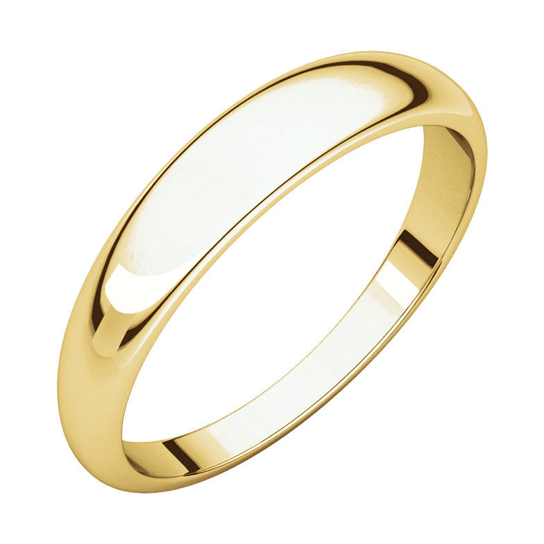 Half Round Tapered Wedding Band