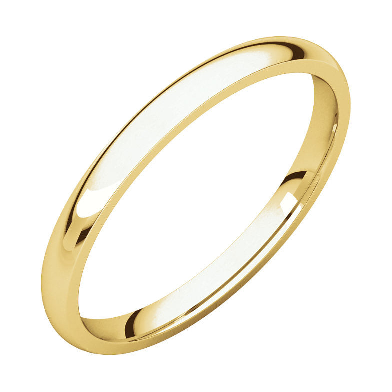 Comfort Fit Light Wedding Band