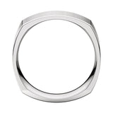 Square Comfort Fit Wedding Band