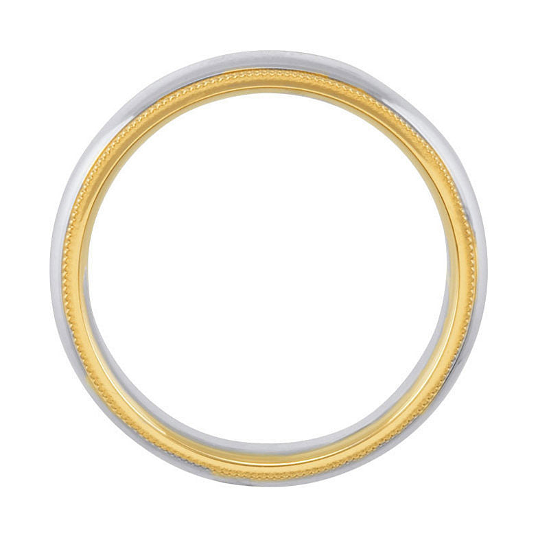 Sterling Silver & 14k Yellow Gold 6mm Comfort-Fit Wedding Band