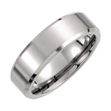 Titanium 7mm Beveled Edge Wedding Band