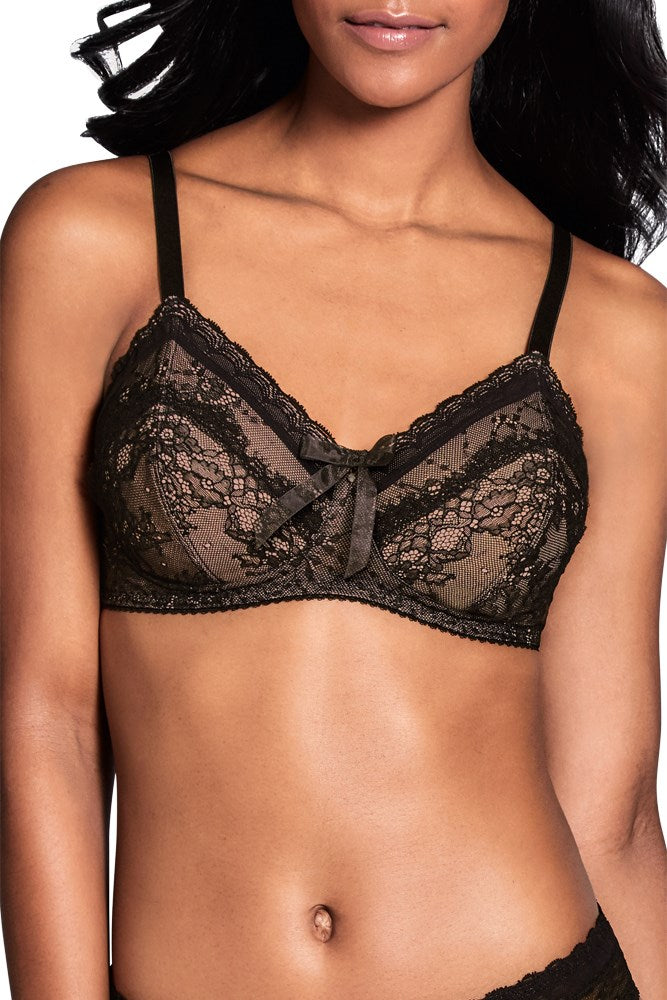 Aurora Non Wired Bra - Black / Nude #44569