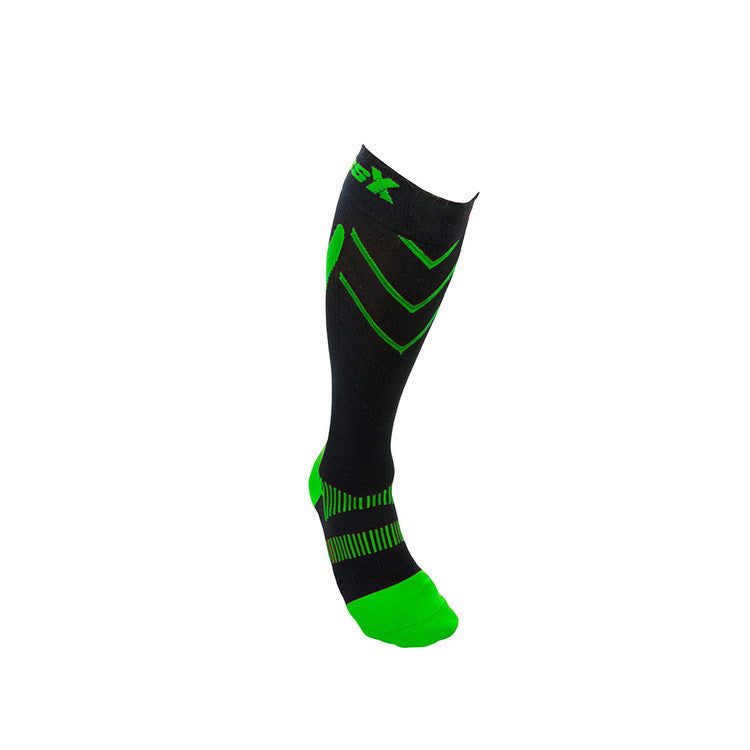 CSX Compression Socks X200-GB 15-20 MMHG GREEN ON BLACK