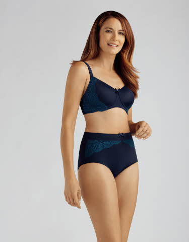 Amoena Lilly Pad Non-Wired Bra Navy/Turquoise