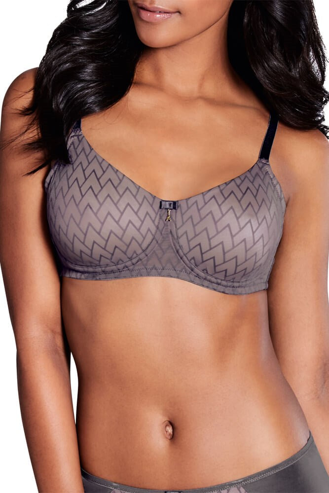 Maya Non Wired Bra - Grey / Rose #44544