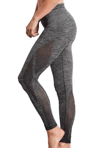 Seamless Melange Sports Tights - Grey Melange #44582