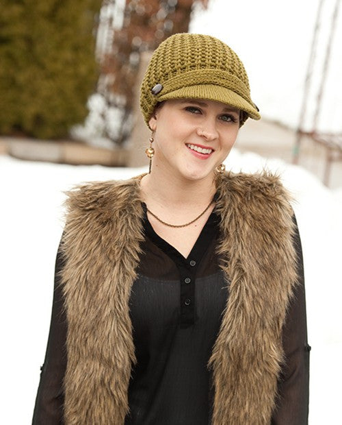 Hats With Heart Cable Knit Cap