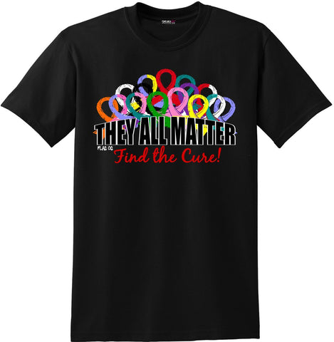 """They All Matter"" Unisex T-Shirt - Black #101037"