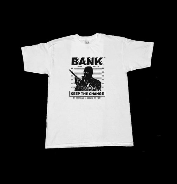 BANK Records - Bank Tee - White