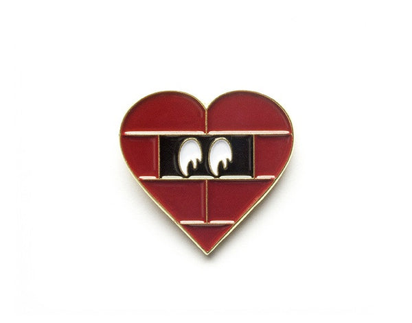 Tom Grunwald - Prisoner of Love Lapel Pin - Red/Black