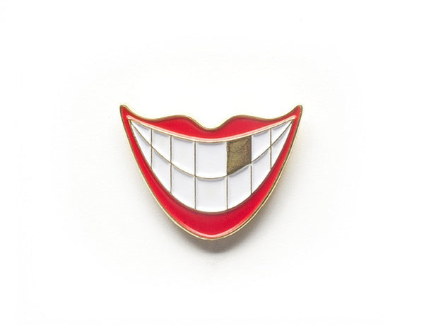 Tom Grunwald - Goldie Lapel Pin - White