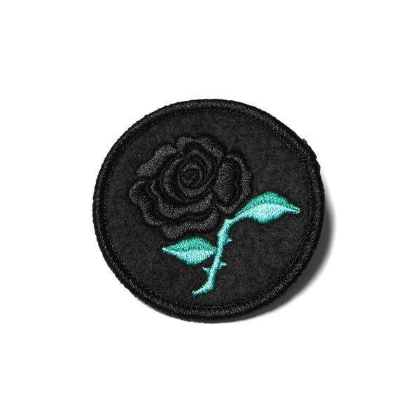 Raised by Wolves - Black Rose Patch - Black