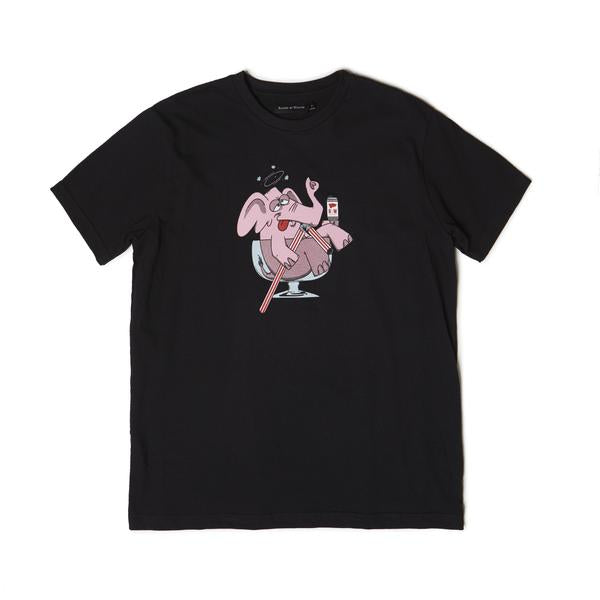 Raised by Wolves - Elephant T-Shirt - Black