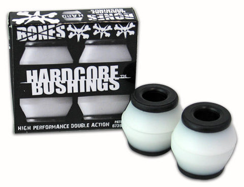 Bones - Hardcore HARD Bushings - Black/White
