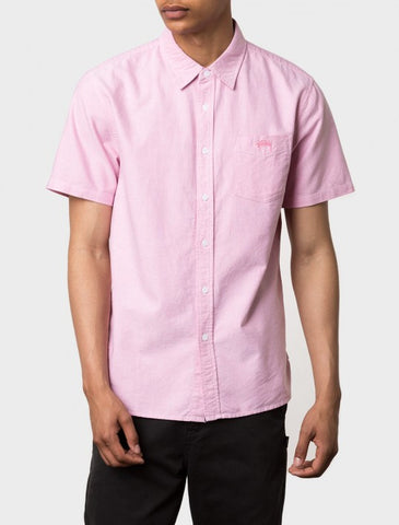 Stussy - Classic Oxford S/S Shirt - Pink