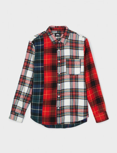 Stussy - Mixed Tartan L/S Shirt - Multi