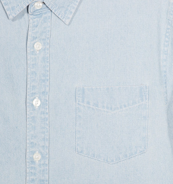 Stussy - Berkeley Denim L/S Shirt - Light Blue