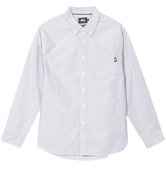 Stussy - Frank Oxford L/S Shirt - Black