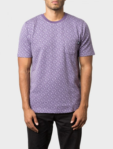 Stussy - S Diamond S/S Crew - Purple