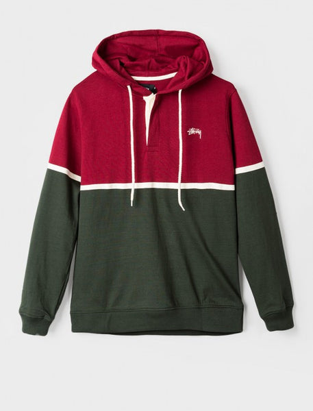 Stussy - Hooded Rugby - Green