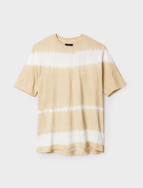 Stussy - Spray Stripe S/S Tee - Khaki