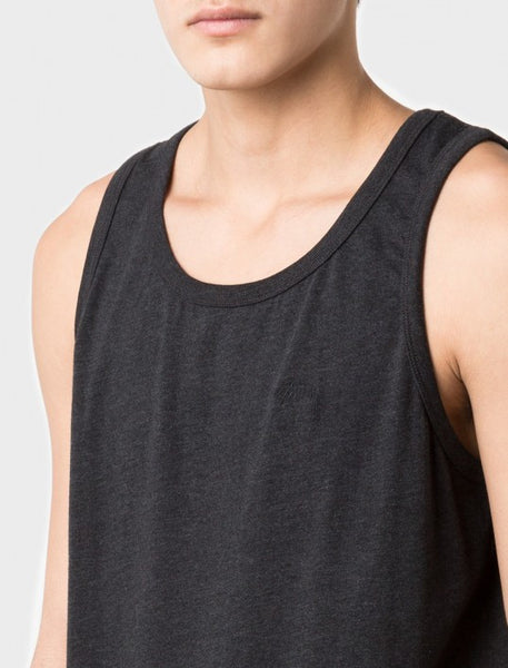 Stussy - Heather O'Dyed Tank Top - Black Heather