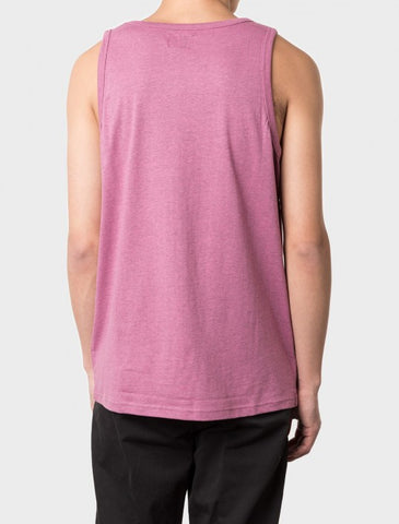 Stussy - Heather O'Dyed Tank Top - Pink Heather
