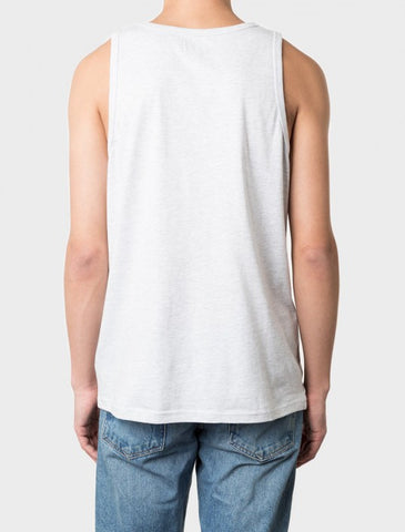 Stussy - Heather O'Dyed Tank Top - White Heather