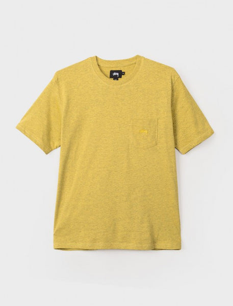 Stussy - Heather O'Dyed S/S Pocket Tee - Gold Heather