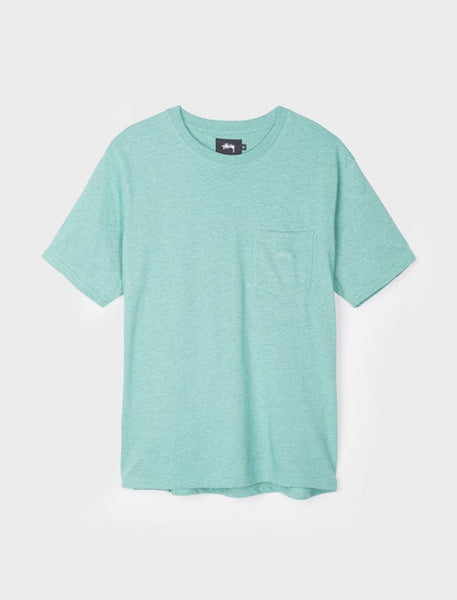 Stussy - Heather O'Dyed S/S Pocket Tee - Mint Heather