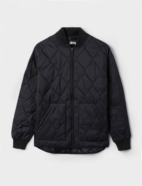 Stussy - Quilted Military Jacket - Black
