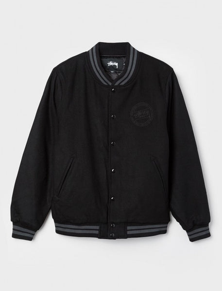 Stussy - Stock Varsity Jacket - Black