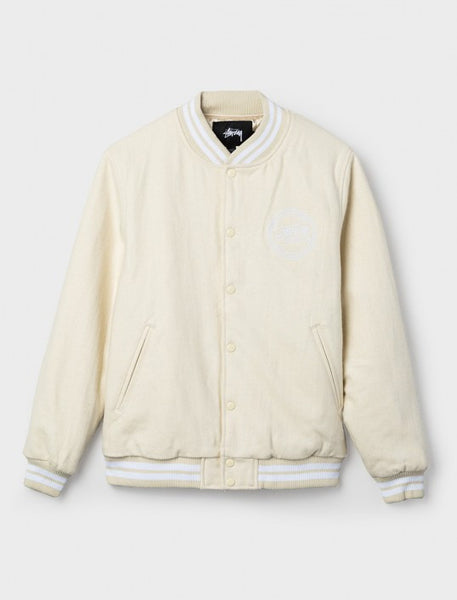 Stussy - Stock Varsity Jacket - Off White
