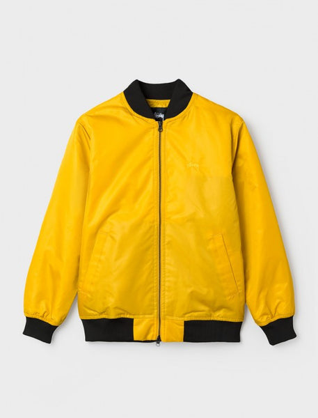 Stussy - Flight Satin Bomber Jacket - Mustard