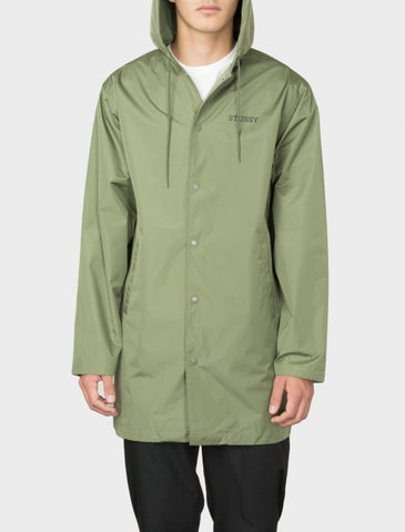 Stussy - Tony Long Hooded Coach Jacket - Olive