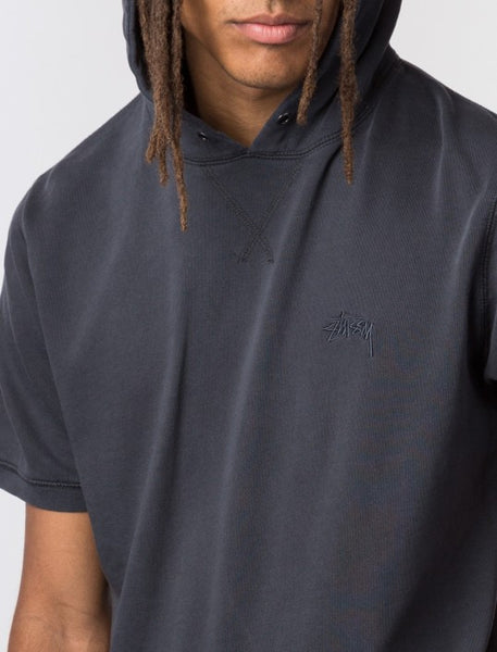 Stussy - Stock S/S Hoodie - Charcoal