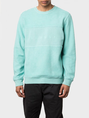 Stussy - Reverse Fleece Panel Crew - Green