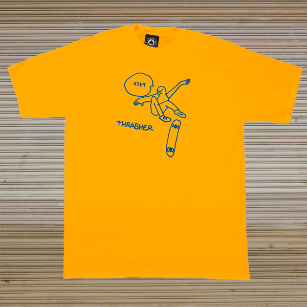 Thrasher - Kcuf Tee - Gold