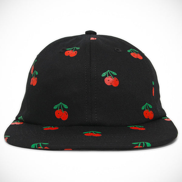 Acapulco Gold - Cherry 6 Panel Cap - Black