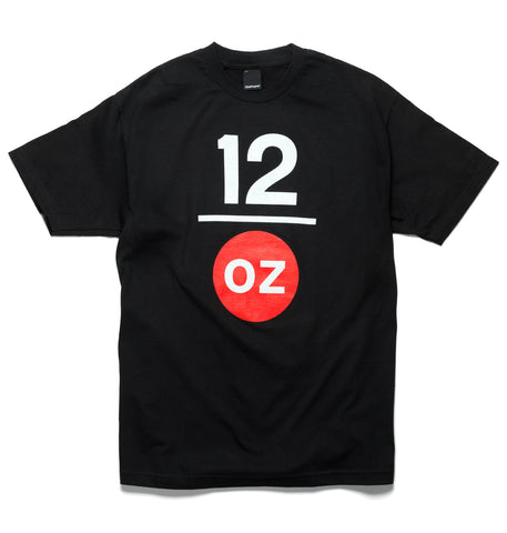 12ozProphet - Stacked Logo Tee - Black