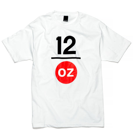 12ozProphet - Stacked Logo Tee - White
