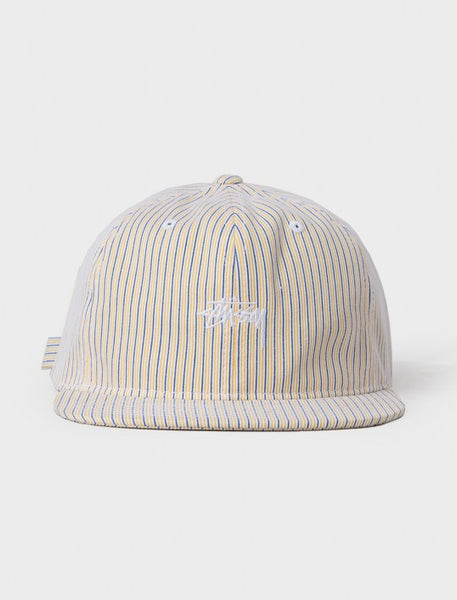 Stussy - Striped Strapback Cap - Yellow