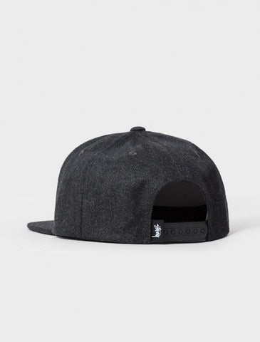 Stussy - Smooth Stock Melton Wool Snapback - Black