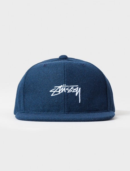Stussy - Smooth Stock Melton Wool Snapback - Navy