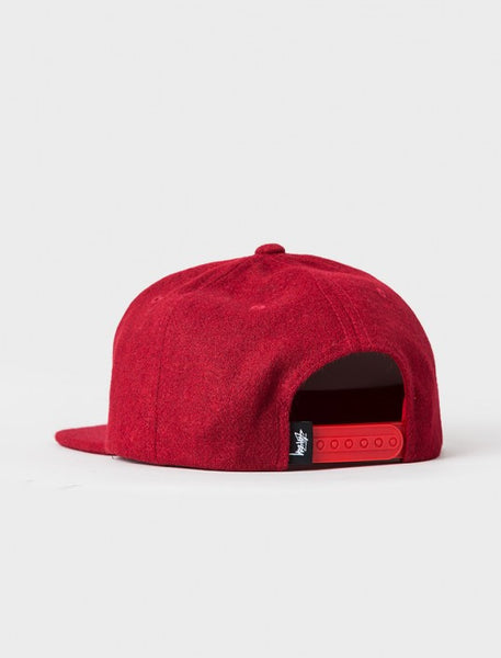 Stussy - Smooth Stock Melton Wool Snapback - Red