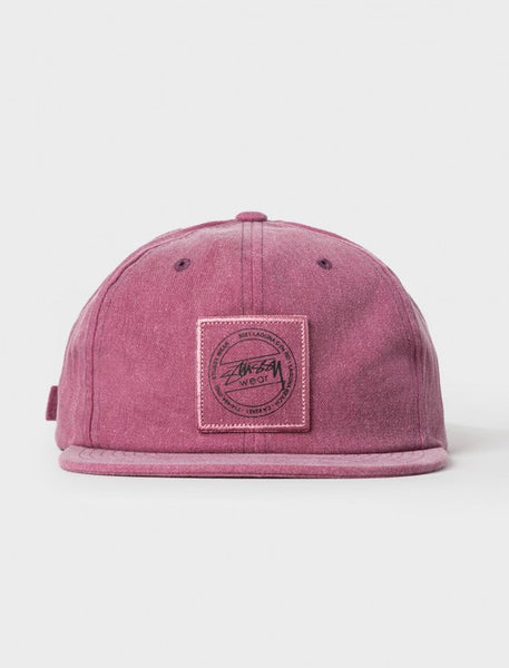 Stussy - Washed Twill Strapback - Burgundy